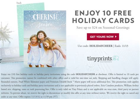 tiny prints cards 10 free cards promo code tiny prints