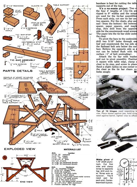 Folding Picnic Table Plans Folding Picnic Table Plans Woodarchivist