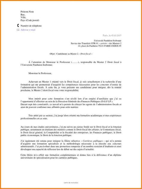 Exemple De Lettre Type De Motivation 12 Lettre Type De Motivation Modele Lettre