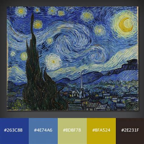 Complementary Paint Colors by 10 Free Color Palettes From 10 Famous Paintings Design Shack