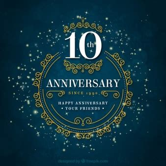 Marriage Anniversary Card Vector by 10 Anniversary Vectors Photos And Psd Files Free