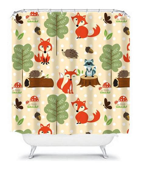 woodland creatures curtains woodland shower curtain monogram boy girl from