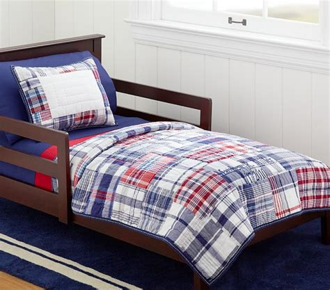 Pottery Barn Madras Crib Bedding Madras Nursery Toddler Quilted Bedding Pottery Barn