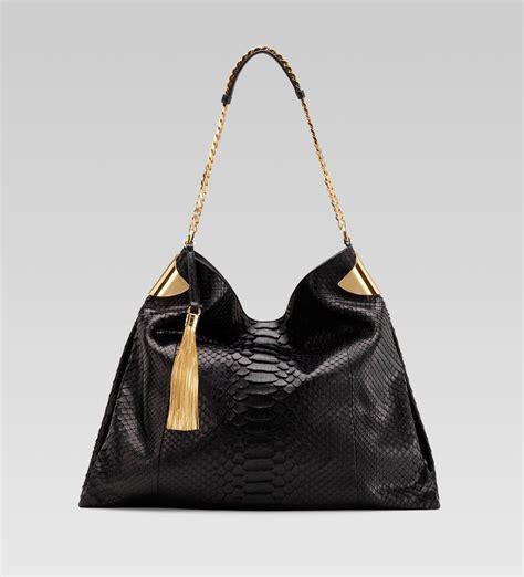 Gucci Python Bag gucci gucci 1970 large shoulder bag black python all