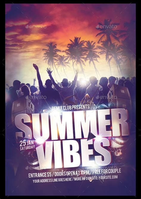 23 Summer Party Flyer Templates Free Premium Download Attractive Flyer Templates