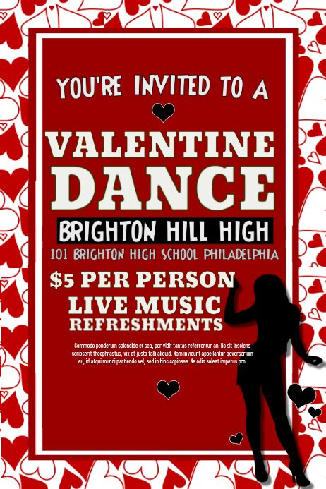 valentines dance template postermywall