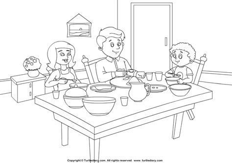 coloring pages for restaurants dining room coloring pages and print for free