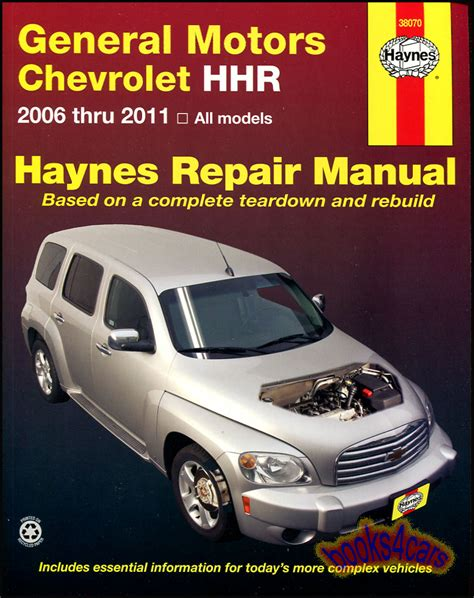 hhr shop manual chevrolet service repair book haynes chilton workshop 2006 2011 ebay