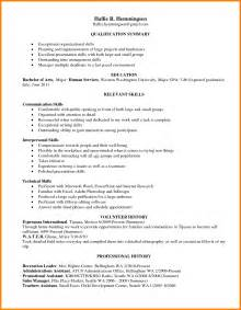 Exles Of Skills For Resume by 5 Leadership Skills On Resume Exle Ledger Paper