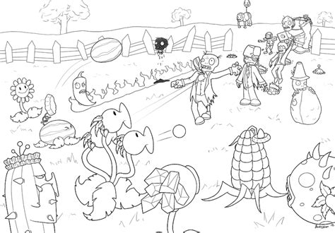 2 super brains plants vs zombies garden warfare coloring