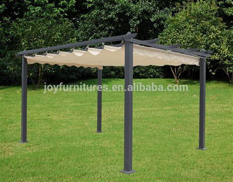 Steel Frame Gazebo Shade Roof Garden Outdoor Pergola Metal Pergolas With Canopy