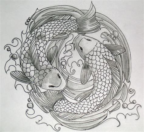 koi fish tattoo drawing design zodiac designs there is only here koi fish