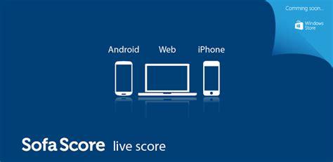 score sofa android app per seguire le partite in tempo reale