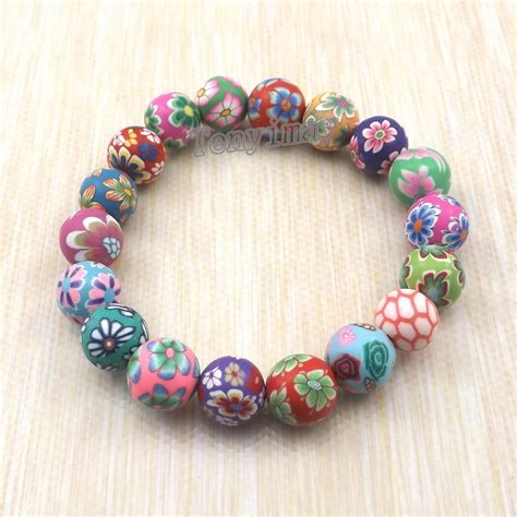 cheap bead bracelets fashion polymer clay bracelets free shipping wholesale
