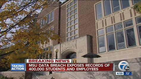 Michigan State Records Michigan State Confirms Data Breach Of Server Containing 400 000 Student