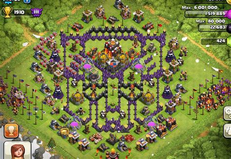 coc layout funny base clash of clans terunik dan terbaru clash of clans