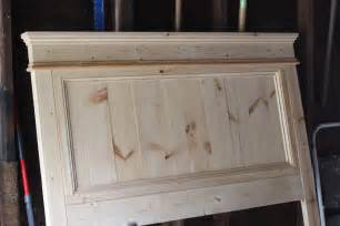 Diy Wooden Headboard Steffens Hobick We Built A Bed Diy Wooden Headboard