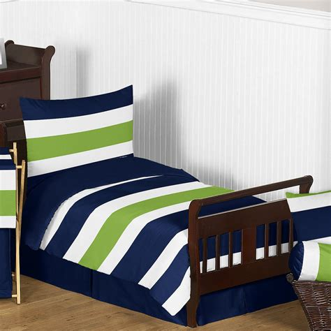 lime green and blue comforter sweet jojo designs navy blue and lime green stripe 5 piece