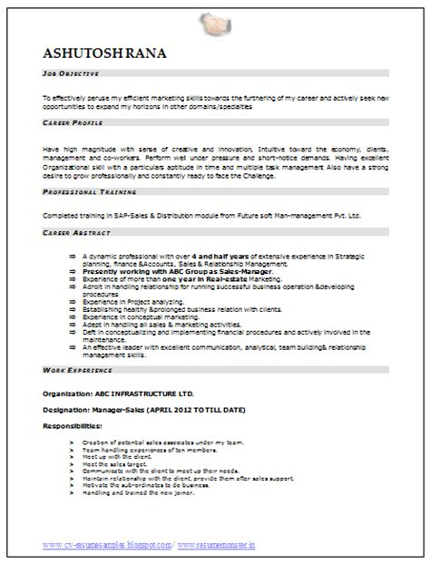 mba resume format for freshers best resume formats free samples