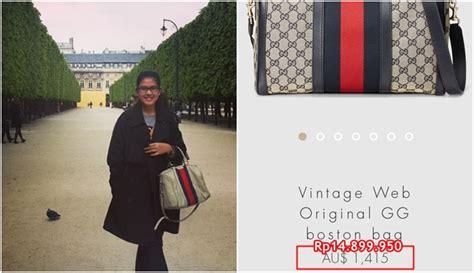 Harga Tas Gucci Boston Original dikenal sederhana harga 6 tas milik putri presiden jokowi