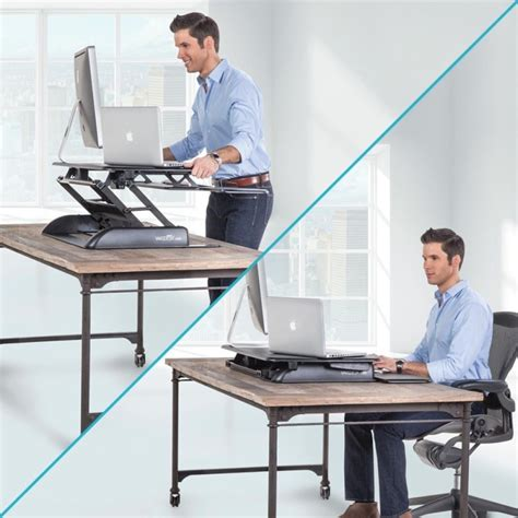 Standing Desk Vs Sitting Desk A Users Guide To Standing While You Work Sit Stand Desk