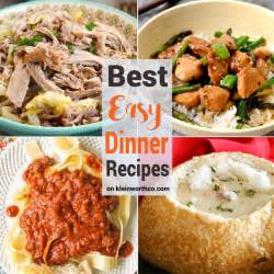 best easy dinner recipes kleinworth co