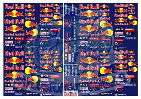 Stickers Red Bull Surf by Red Bull Racing Waterslide Decals My Custom Hotwheels
