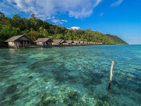 raja at dive resort water bungalows at the of raja at papua