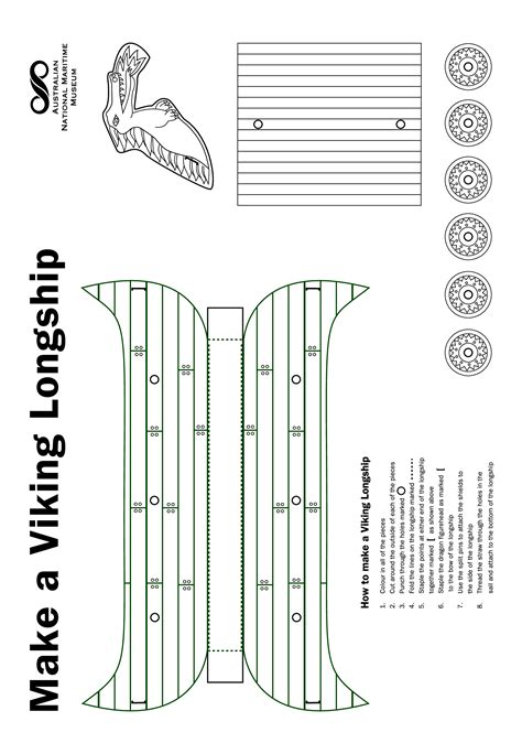 template of viking longboat viking longship template www pixshark images
