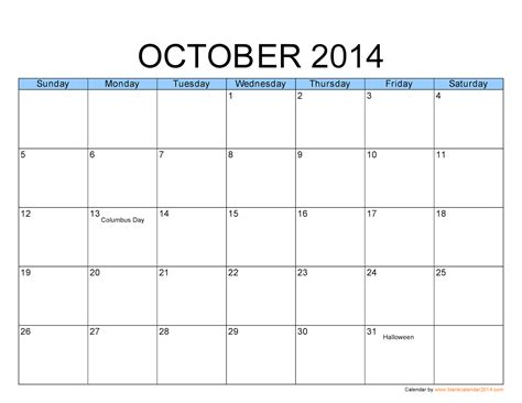 october 2014 calendar template free printable calendar 2017 october 2014 calendar
