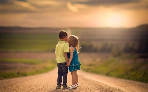 wallpaper girl and boy download boy girl kids kiss hd wallpaper stylishhdwallpapers