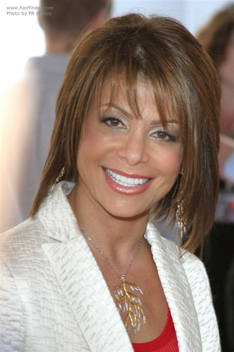 Paula Abdul Hairstyles by Paula Abdul S Medium Length Hairstyle With Texturized Layers