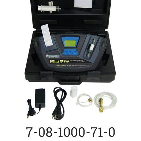 Toner Ultima Ii ultima id pro model ri 700h refrigerant analyzer w