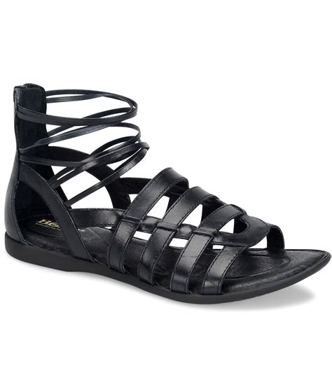 born gladiator sandals born angeles leather caged gladiator sandals in black lyst