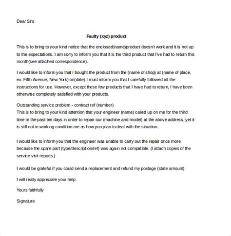 customer complaint letter template customer complaint letter 9 free word pdf documents
