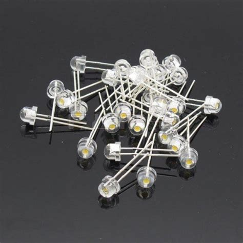 Led 5mm Merah Straw Hat Clear Bright 5mm straw hat led 5 pack white at mg labs india