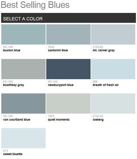 best benjamin blues benjamin best selling blues 2014 color schemes