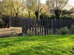 Amazing Plantes Pour Jardin Zen #13: Cloture-piquets-schiste-z.jpg