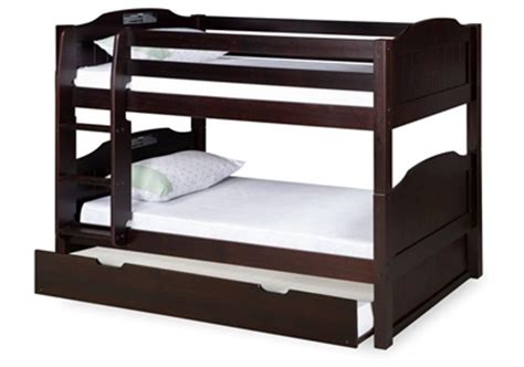 low bunk bed with trundle expanditure low bunk bed with trundle attached ladder panel style cappuccino