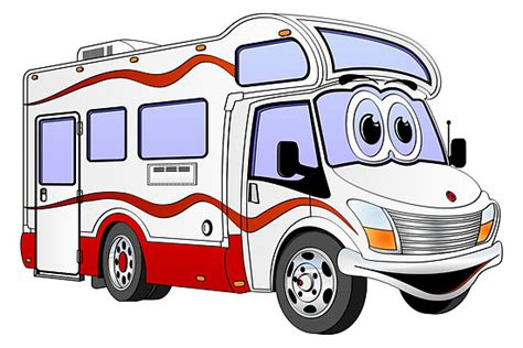 Campervan Wall Stickers quot red cartoon camper quot by graphxpro redbubble