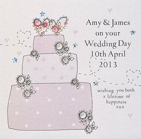 personalised handmade wedding card by eggbert