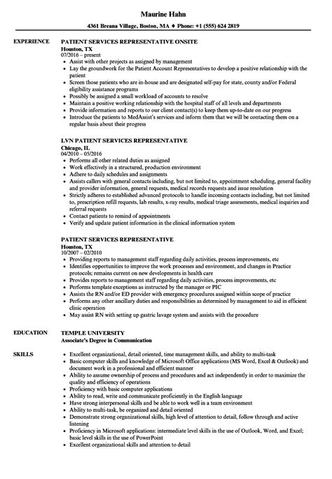 sle cover letter for customer service representative no experience patient service representative resume patient service