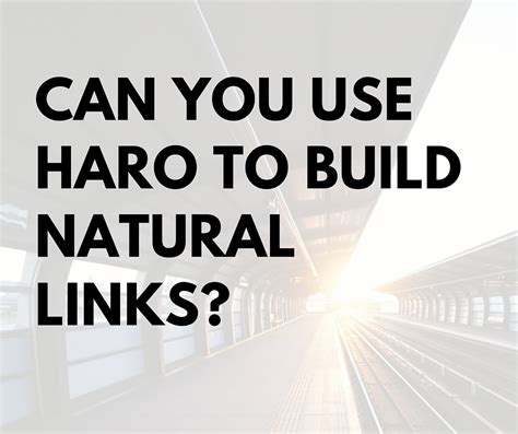can use can you use haro to build links bgdm