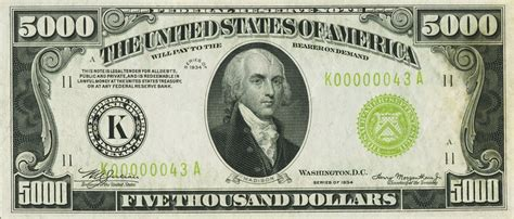 KD Currency Inc $500 & $1000 Federal Reserve Notes | High ... $10000 Bill For Sale