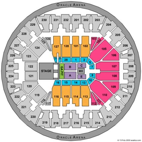 oakland arena seating oracle arena tickets in oakland california oracle arena