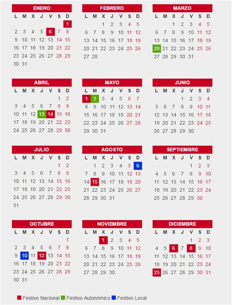 Calendario Laboral Enero 2017 Madrid Calendario Laboral Comunidad De Madrid 2017