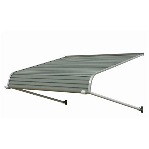 metal awnings home depot nuimage awnings 4 ft 2500 series aluminum door canopy 16 in h x 42 in d in