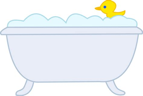 clipart bathtub bubble bath with rubber ducky free clip art