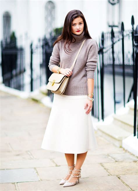50 ways to wear white skirts in winter closetful of clothes