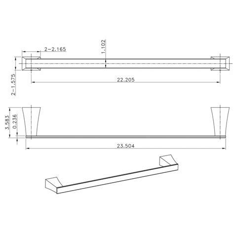 Rectangle Toilet Rack american imaginations ai 13508 single rod towel rack with